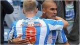 James Vaughan scored for Huddersfield