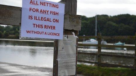 Netting warning