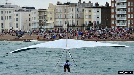 Competitor at Worthing Birdman