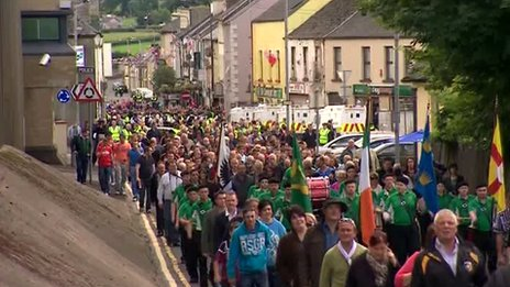 Hundred attend the republican parade in Castlederg