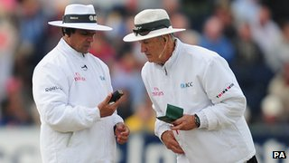 Aleem Dar and Tony Hill