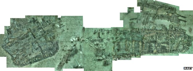 Mosaic of Swash Channel wreck