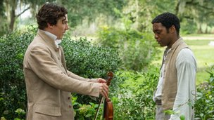 Benedict Cumberbatch and Chiwetel Ejiofor in 12 Years a Slave