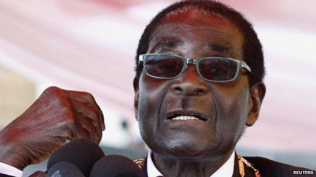 Robert Mugabe en la Conmemoración del Día de los Héroes en Harare