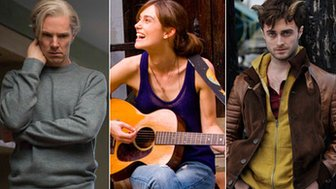 Benedict Cumberbatch in The Fifth Estate, Keira Knightley in Can a Song Save Your Life? and Daniel Radcliffe in Horns