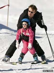 Prince Friso with daughter Zaria (February 2011)
