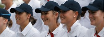 England's Jenny Gunn, Charlotte Edwards, Sarah Taylor and Arran Brindle