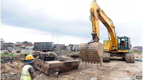 Badia East slum in Lagos on 12 August 2013