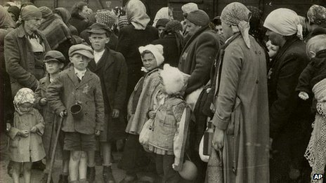 Jews arrive at at Auschwitz-Birkenau in May 1944