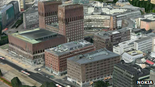 Nokia 3D image of Oslo