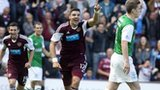 Hearts won the Edinburgh derby