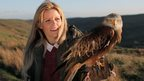 Ellie Harrison with an eagle