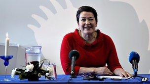 Greenland's first woman prime minister Aleqa Hammond