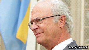 King Carl XVI Gustaf of Sweden