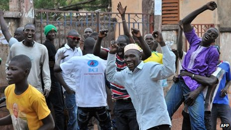 IBK supporters in Bamako on 11 August 2013