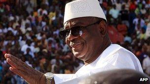 Ibrahim Boubacar Keita (file image)
