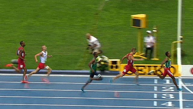 Mohammad Aman wins 800m gold