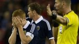 Scotland's Fraser Fyvie shows his disappointment