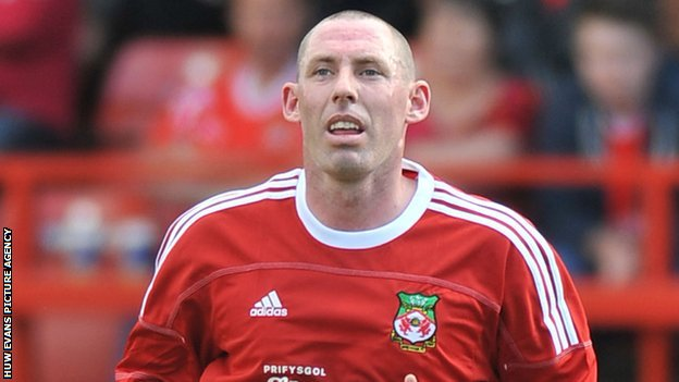 Wrexham defender Stephen Wright was sent-off