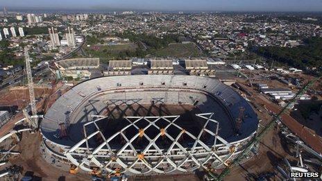 Arena da Amazonia, Manaus 2 Aug 13