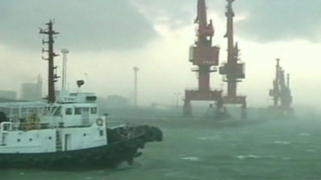 Stormy weather in south China sea