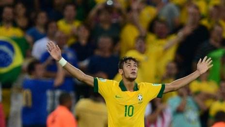 Neymar during the Confederations Cup