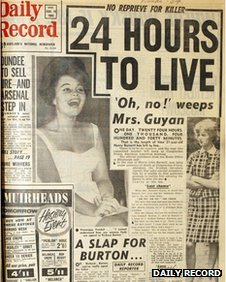 How the Daily Record covered the story of the execution