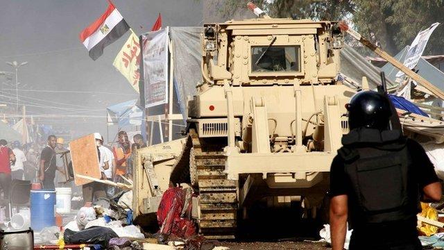 Unrest near Rabaa al-Adawiya mosque