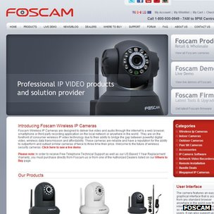 Foscam homepage