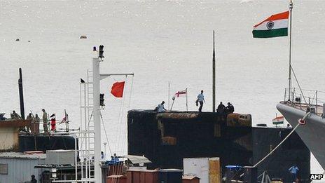 The Naval dockyard in Mumbai on 14 August 2013