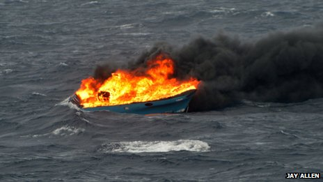 Sinking of smuggling boat
