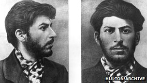 A young Joseph Stalin seen in a police file photograph from around 1900