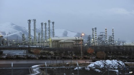 Iran's heavy water nuclear facility near the central city of Arak is backdropped by mountains in this file photo dated 15 January, 2011.
