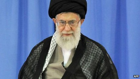 Iranian supreme leader Ayatollah Ali Khamenei on 3 August, 2013.