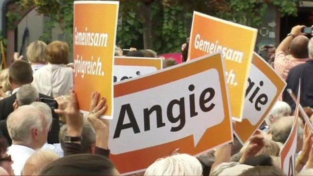 Angela Merkel campaign posters