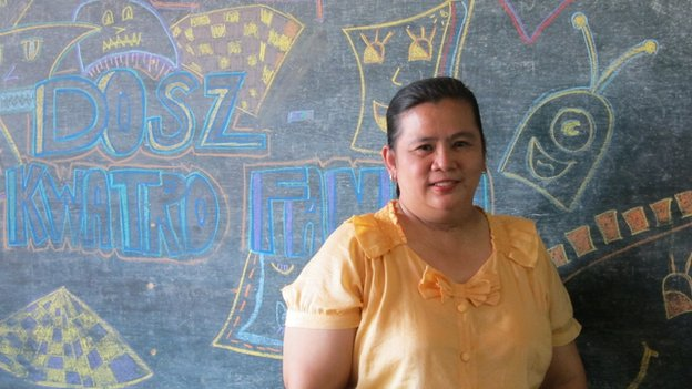 Public school teacher Reneliza Llavore in Bacolod City, Philippines