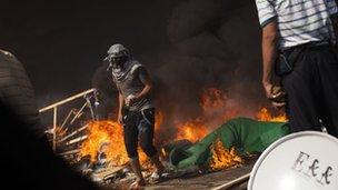 A supporter of ousted Egyptian President Mohammed Morsi
