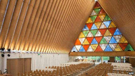 NZ marks new cardboard cathedral