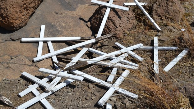 Crosses in Marikana, North West