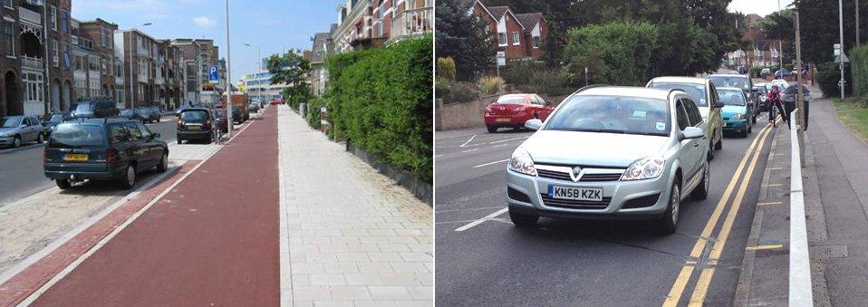 Harstenhoekweg in The Hague and Berkeley Avenue in Reading