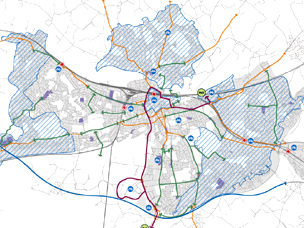 Reading borough cycling network