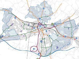 Reading borough cycling network