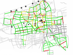 The Hague cycling network