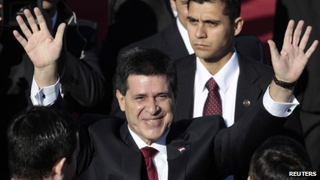 Horacio Cartes before his inauguration as president of Paraguay on 15 August 2013