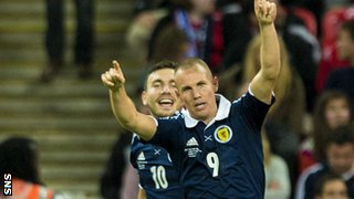 Kenny Miller scored Scotland's second at Wembley