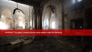 The charred interior of Cairo's Rabaa al-Adawiya mosque, 15 August