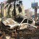 A charred car near Cairo's Rabaa al-Adawiya mosque, 15 August