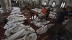 Bodies on the floor of Cairo's Eman mosque, 15 August