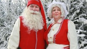 Father Christmas and wife at LaplandUK