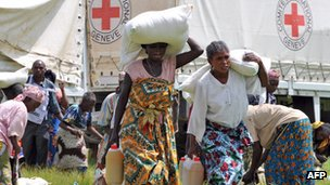 North Kivu, DR Congo - ICRC food distribution